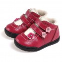 CAROCH - Soft sole girls kids baby shoes | Filled booties with 2 scratchs
