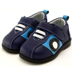 FREYCOO - Soft sole boys kids baby shoes | Blue sneakers