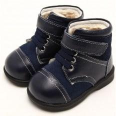 FREYCOO - Scarpine suola morbida - ragazzo   Blu e grigio stivali