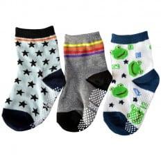 3 paia di calzini antisdrucciolo bambino di 1 a 3 anni   Ragazzo 30
