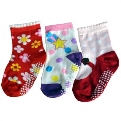 3 pairs of girls anti slip baby socks children from 1 to 3 years old | item 14