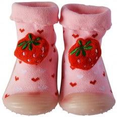Scarpine calzini antiscivolo bambini - ragazza | Pink Fragola