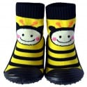 Baby boys girls Socks shoes with grippy rubber | Bee