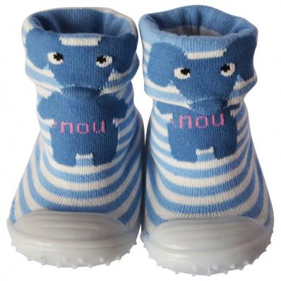 Hausschuhe - Socken Baby Kind geschmeidige Schuhsohle Junge | Elefant