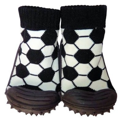 Hausschuhe - Socken Baby Kind geschmeidige Schuhsohle Junge   Fußball