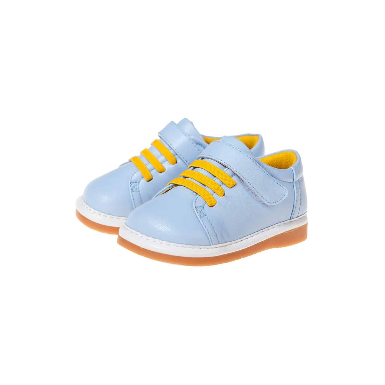 Little Blue Lamb - Zapatos de cordones de material sintético para niño, color gris, talla 21