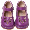 Little Blue Lamb - Squeaky Leather Toddler Girls Shoes | Purple model