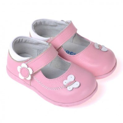 CAROCH - Soft sole girls kids baby shoes | Pink model