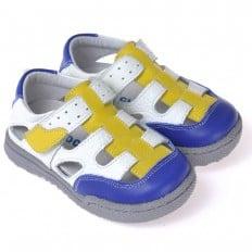 CAROCH - Scarpine suola morbida - ragazzo   Sneakers bianco blu e giallo