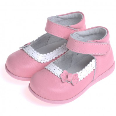 CAROCH - Soft sole girls kids baby shoes | Pink model ceremony