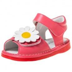 Little Blue Lamb - Zapatos de cuero chirriantes - squeaky shoes niñas | Sandalias margarita rosa ceremonia