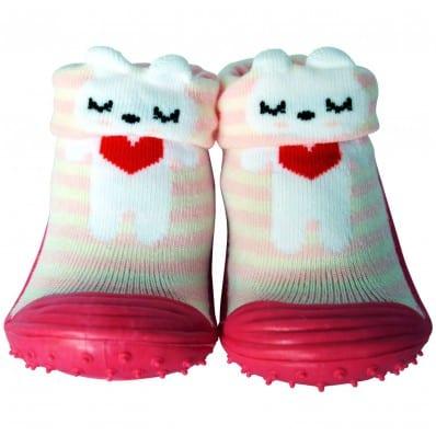 Hausschuhe - Socken Baby Kind geschmeidige Schuhsohle Mädchen | Kleines rotes Herz