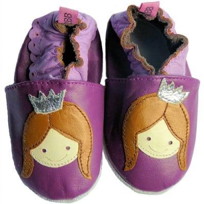 Krabbelschuhe Babyschuhe geschmeidiges Leder - Mädchen   Violet Fürstin