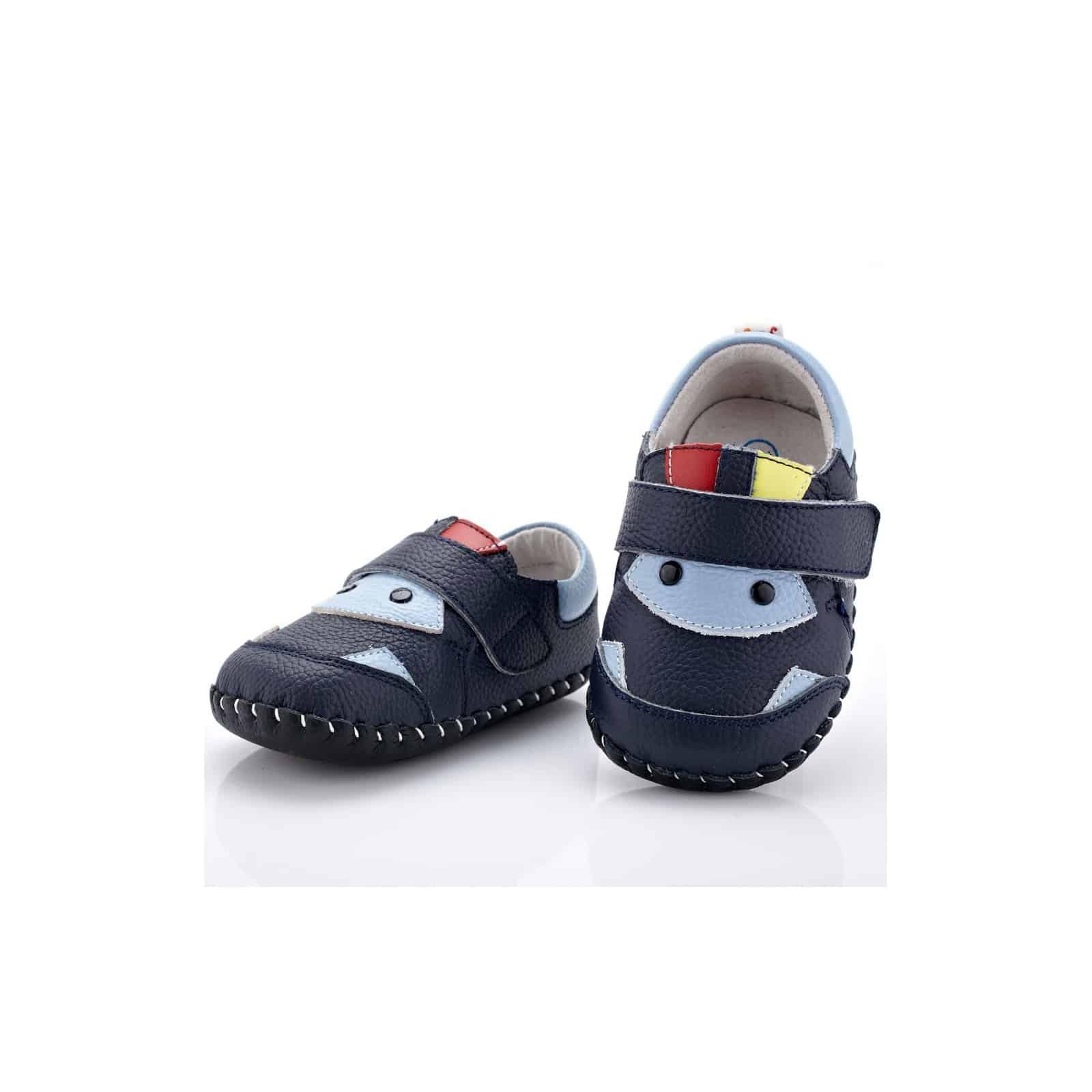 a700a0bd2b89f Chaussures premiers pas cuir souple bicolores