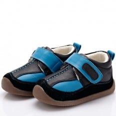 YXY - Chaussures semelle souple | Baskets bleu et noir
