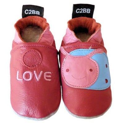 Chaussons bébé en cuir souple | Love
