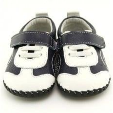 FREYCOO - Scarpine primi passi bimba in morbida pelle | Sneakers blu