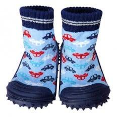 Chaussons-chaussettes bébé antidérapants semelle souple | Voitures