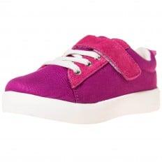 Little Blue Lamb - Krabbelschuhe Babyschuhe  Leder - Mädchen | Sneakers rosa violett Samt
