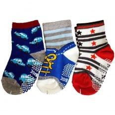 3 pairs of boys anti slip baby socks children from 1 to 3 years old | item 1