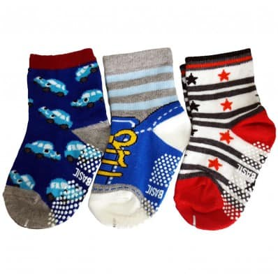 3 paia di calzini antisdrucciolo bambino di 1 a 3 anni   Ragazzo 1