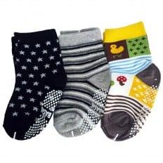 3 paia di calzini antisdrucciolo bambino di 1 a 3 anni | Ragazzo 2