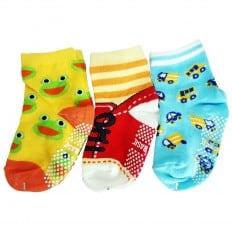 3 paia di calzini antisdrucciolo bambino di 1 a 3 anni | Ragazzo 3