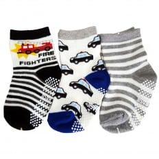3 paia di calzini antisdrucciolo bambino di 1 a 3 anni | Ragazzo 4