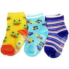 3 paires de chaussettes antidérapantes bébé enfant de 1 à 3 ans | Lot 7