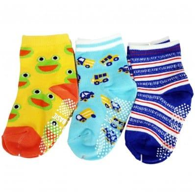 3 paires de chaussettes antidérapantes bébé enfant de 1 à 3 ans | Lot 7 C2BB - chaussons, chaussures, chaussettes pour bébé