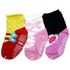 3 pairs of girls anti slip baby socks children from 1 to 3 years old | item 27
