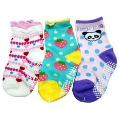 3 paia di calzini antisdrucciolo bambino di 1 a 3 anni   Ragazza 28