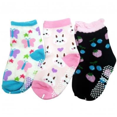 3 paires de chaussettes antidérapantes bébé enfant de 1 à 3 ans | Lot 9