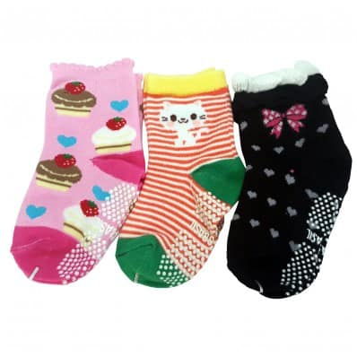 3 pairs of girls anti slip baby socks children from 1 to 3 years old | item 10