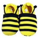 Chaussons bébé enfant toile et tissu   Abeille