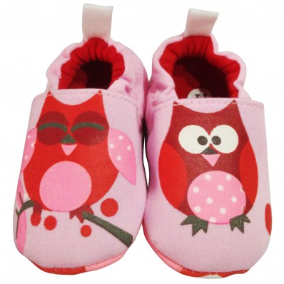 Zapatillas tejido para niños   Búho