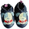 Zapitillas de bebe de cuero suave niños antideslizante | Perro ojo azul