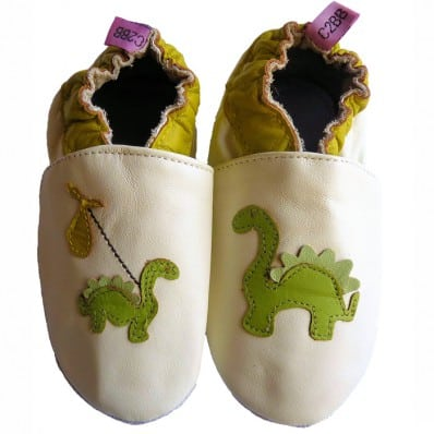 Scarpine Morbida Cuoio Bambini - ragazzo   Dino bianco