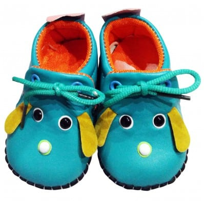 C2BB - Krabbelschuhe Babyschuhe Leder - Jungen | Mr shoes blau