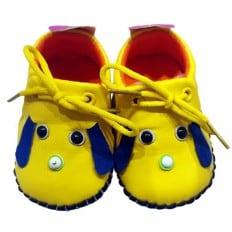 C2BB - Chaussures premiers pas cuir souple | Mr shoes jaune