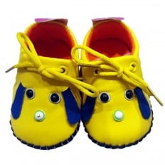 C2BB - Scarpine primi passi bimba in morbida pelle | Mr shoes giallo