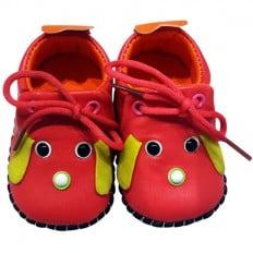 C2BB - Chaussures premiers pas cuir souple | Mr shoes framboise