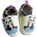 Zapitillas de bebe de cuero suave niños antideslizante | Panda