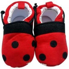 Zapatillas tejido para niños | Rojo y negro
