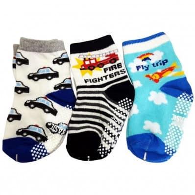 3 paires de chaussettes antidérapantes bébé enfant de 1 à 3 ans | Lot 37