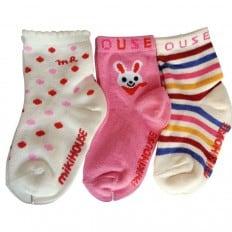 3 pairs of girls anti slip baby socks children from 1 to 3 years old | item 18