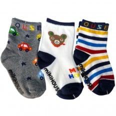 3 paires de chaussettes antidérapantes bébé enfant de 1 à 3 ans | Lot 25