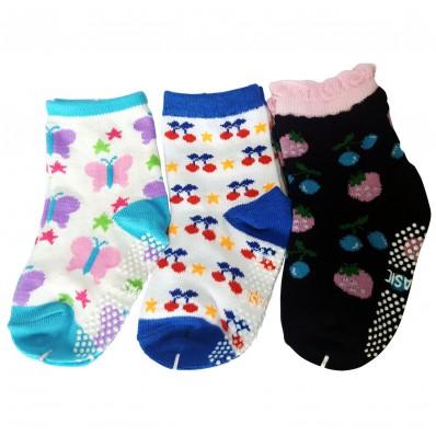3 paia di calzini antisdrucciolo bambino di 1 a 3 anni | Ragazza 17
