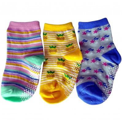 3 pairs of girls anti slip baby socks children from 1 to 3 years old | item 13