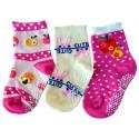 3 paires de chaussettes antidérapantes bébé enfant de 1 à 3 ans | Lot 15
